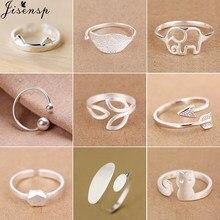 Jisensp-Anillos geométricos Punk para mujer, Flecha de cono de hoja de gato ajustable, anillos de CZ a la moda, anillo Midi, regalos de fiesta de boda