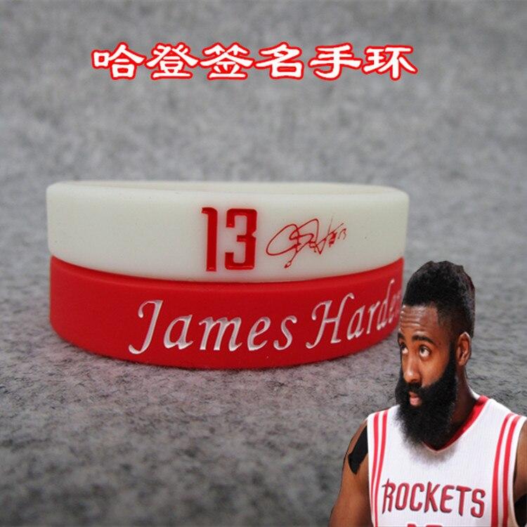 NBA Basketball Star Harden Signature Wrist Strap Curry James Durant Wade McGrady Polo Bracelet Wholesale