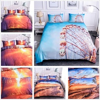 3D Bedding Scenery Print Bedding Set Bed Comforter Cover Sets Queen Size Duvet Cover Set Quilt Cover Set King Size