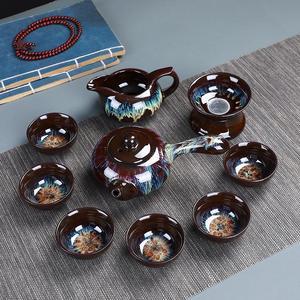 Image 5 - Cinese Kung Fu Insieme di Tè di Ceramica Smalto Teiera Teacup Gaiwan Porcellana Teaset Bollitori Set Attrezzatura Per Tè Articoli E Attrezzature Per Acqua, Caffè, Tè Cerimonia del Tè Cinese
