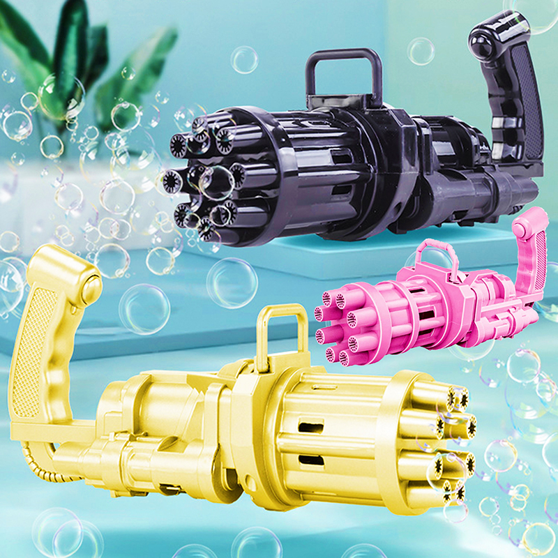 Kids Automatic Gatling Bubble Gun Toys Summer Soap Water Bubble Machine Electric Bubble Machine For Children Gift Toys