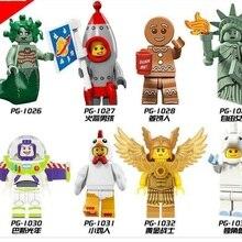 Legoed Мультфильм Базз Лайтер Единорог Статуя Свободы золотой воин строительные блоки фигурки Детский подарок игрушки