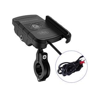 Image 1 - Водонепроницаемый 12V для телефона на мотоцикл Qi быстрой зарядки Беспроводной Зарядное устройство кронштейн держатель подставка для iPhone Xs MAX XR X 8 samsung синтетический каннабиноид класса дибензопиранов Hu