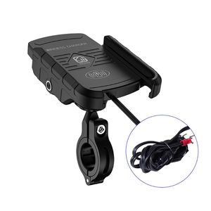 Image 1 - עמיד למים 12V אופנוע טלפון צ י מהיר טעינה אלחוטי מטען סוגר בעל הר Stand עבור iPhone Xs MAX XR X 8 סמסונג Hu