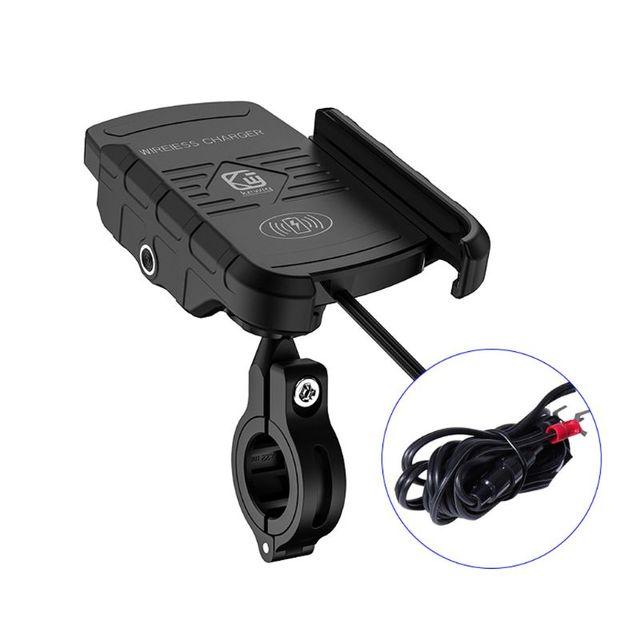 עמיד למים 12V אופנוע טלפון צ י מהיר טעינה אלחוטי מטען סוגר בעל הר Stand עבור iPhone Xs MAX XR X 8 סמסונג Hu