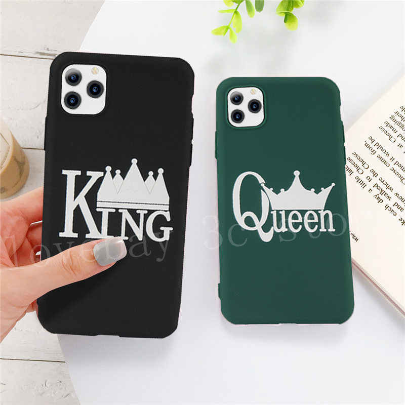 Lovebay Voor Iphone 11 Case Crown King Queen Voor Iphone 7 8 6 6 S Plus 11 Pro X Xr xs Max 5 5 S Se Candy Phone Cases Soft Tpu Cover