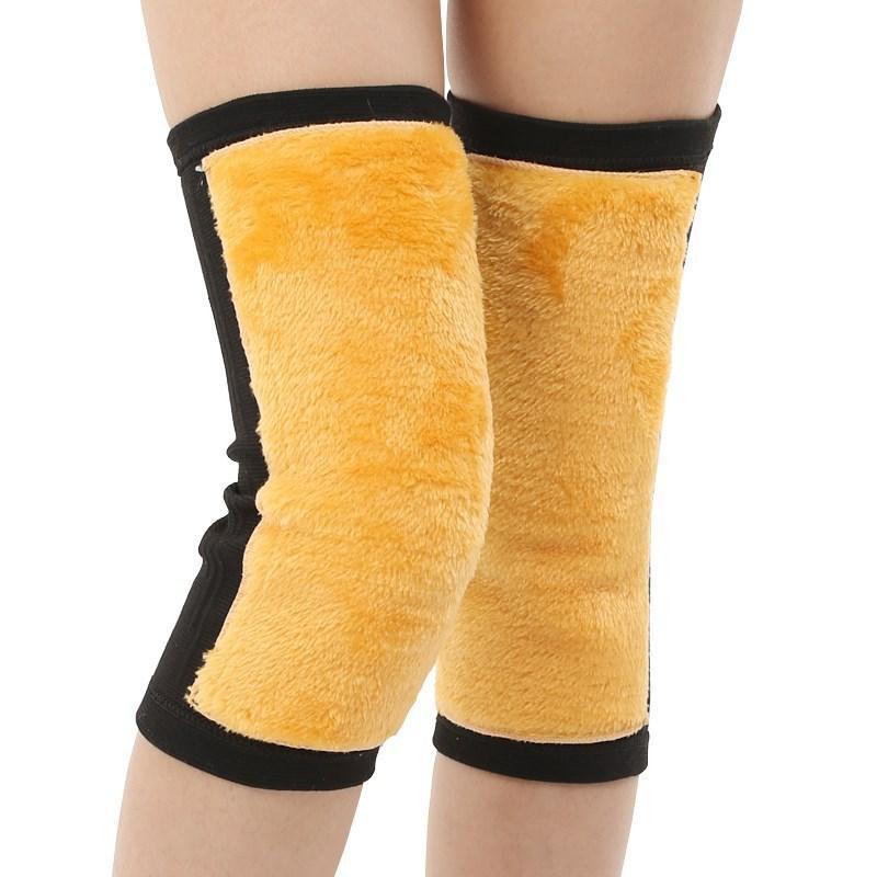 Kneecap Warm Old Cold Legs Cold Plus Velvet Men's Thick Warm Waist Support Waist Warm Inflammatory Kneecap Autumn And Winter.