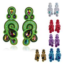 KPACTA Fashion Soutache Earring 2020 Retro Design Ethnic Style Handmade Weaving women's  Earring Drop Earring Accessories