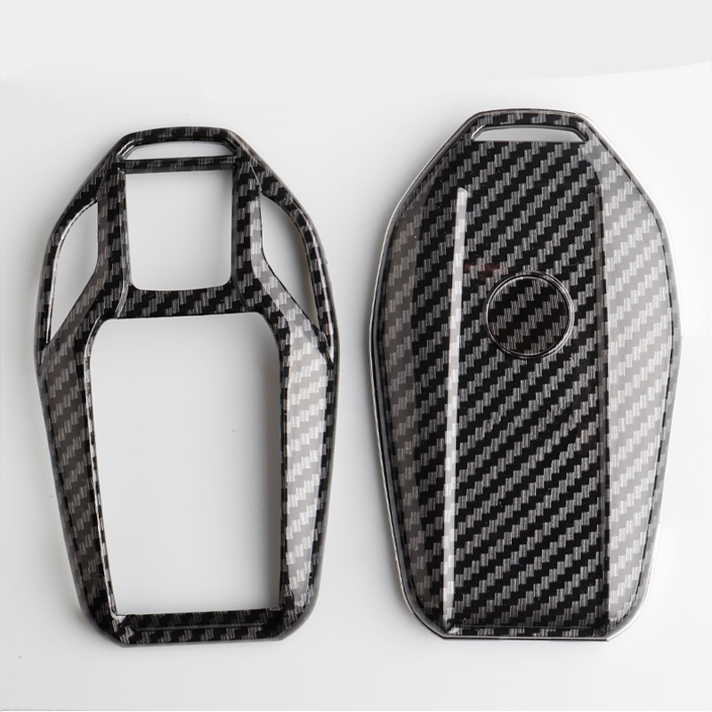 Image 4 - Carbon fiber ABS Key Case Cover Fully Key Shell Remote  Protector For BMW 6 7 Series 740 6 Series GT 5  530i X3 Display KeyKey Case for Car   -