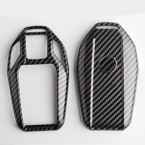 Image 4 - Carbon fiber ABS Key Case Cover Fully Key Shell Remote  Protector For BMW 6 7 Series 740 6 Series GT 5  530i X3 Display Key