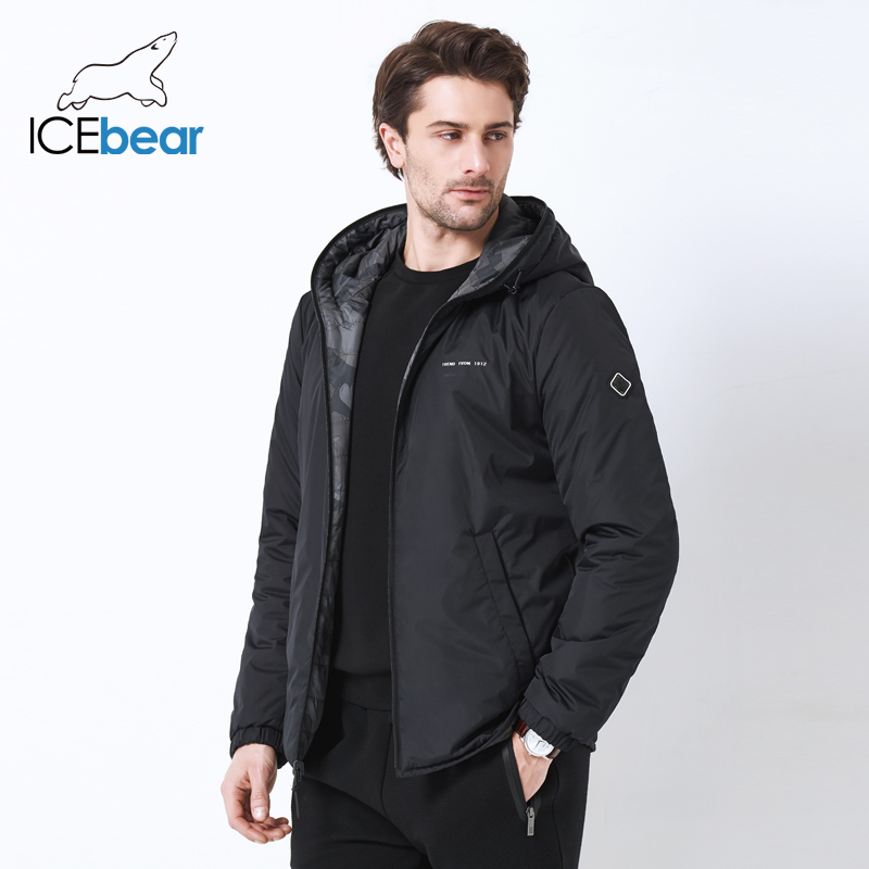 ICEbear2019 ใหม่ผู้ชายเสื้อคู่สวมใส่ผู้ชาย windproof อบอุ่นเสื้อลำลองผู้ชาย MWC19686I-ใน เสื้อกันลม จาก เสื้อผ้าผู้ชาย บน   1