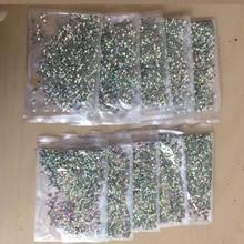 hotfix Rhinestones Crystal AB SS20 4 bags DMC Hot Fix Rhinestone Flat Back Strass Hot Fix Crystals