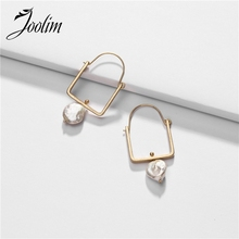 Joolim Natural Irregular Pearl Dangle Earring Stylish European Jewelry Wholesale