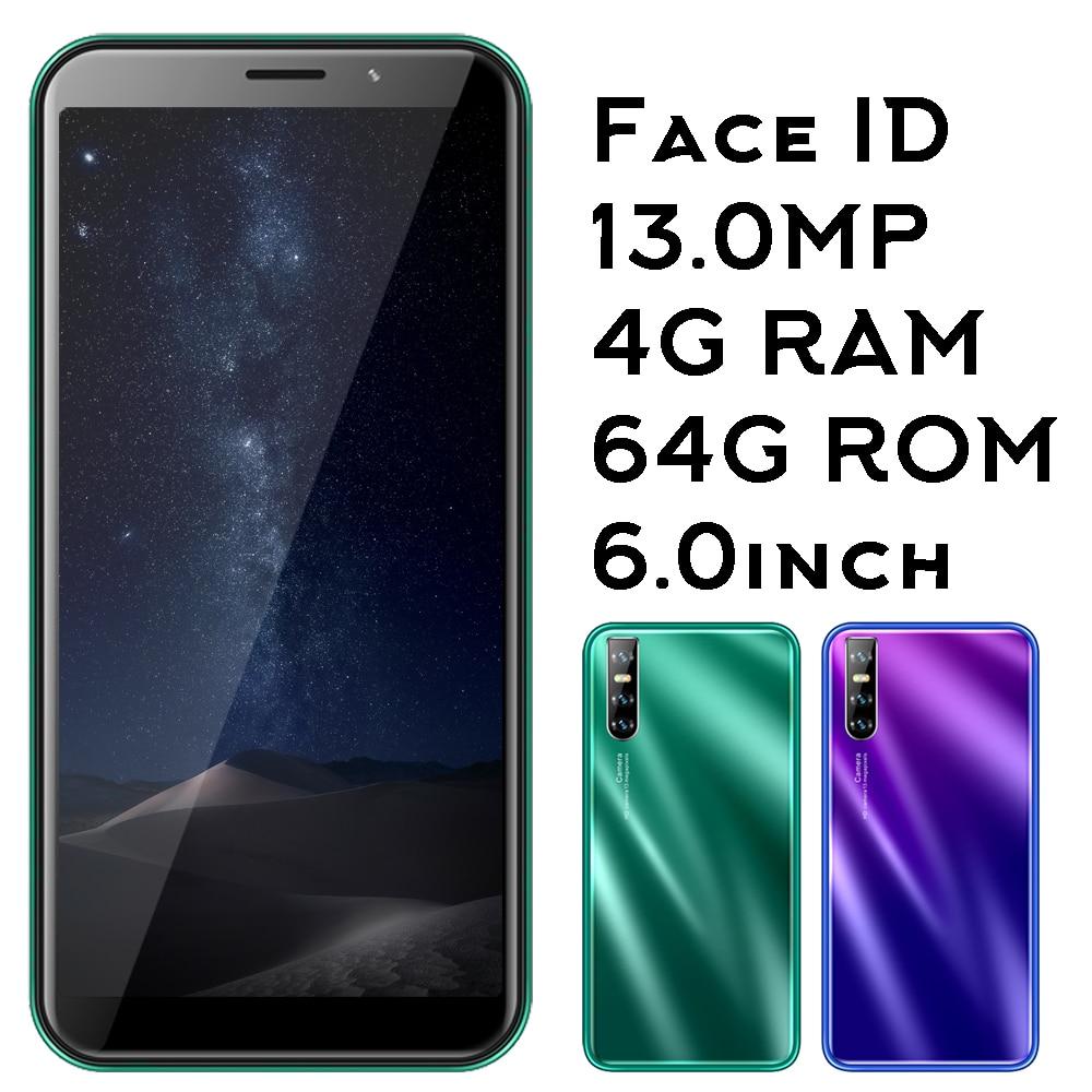 A70 оригинальные Android-смартфоны 4 Гб ОЗУ 64 Гб ПЗУ четырехъядерные мобильные телефоны распознавание лица разблокированные сотовые телефоны 13 ...