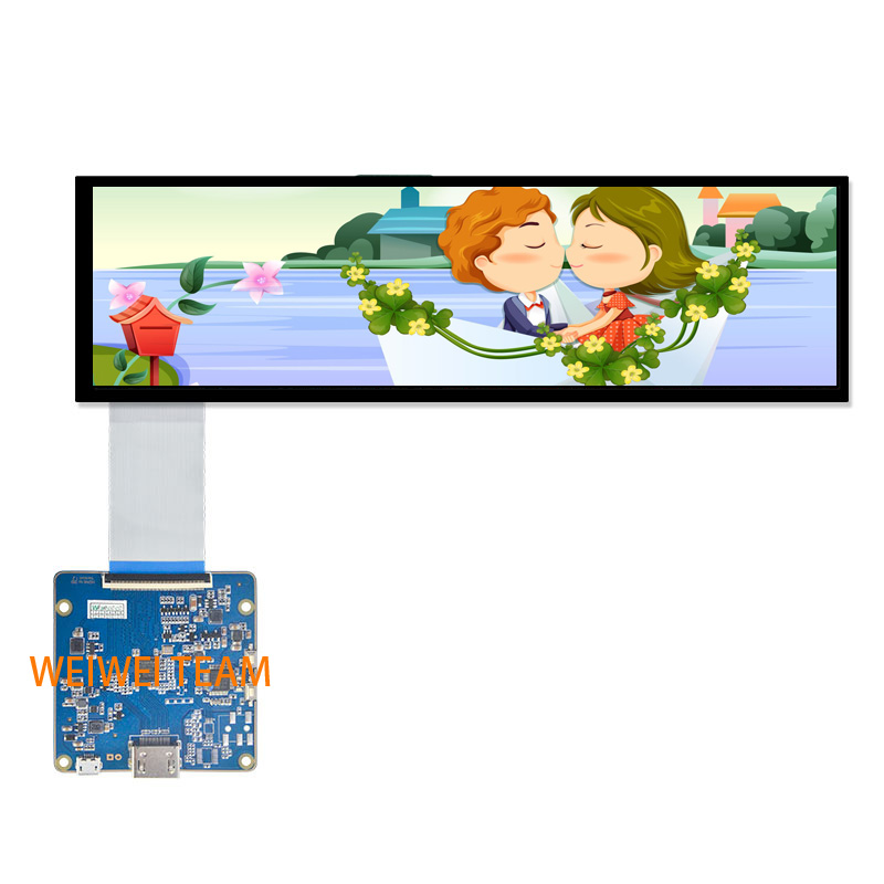 Wisecoco Stretched Bar LCD Screen Ultrawide HSD088IPW1 A00 IPS MIPI Display HDMI Control Board High Brightness For Car Panel-in Mobile Phone LCD Screens from Cellphones & Telecommunications