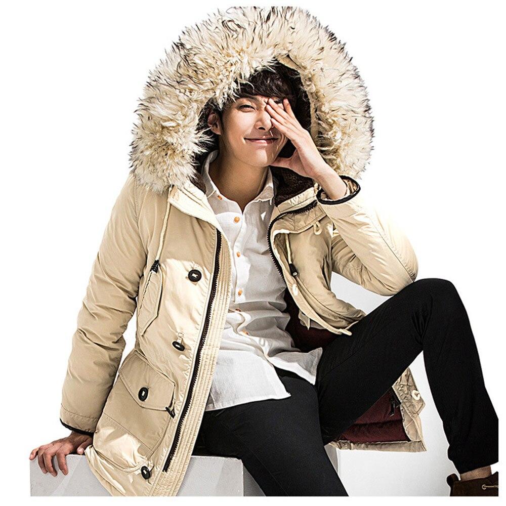 Neue marke winter jacke männer 90% weiße ente unten jacke dicke warm halten männer unten jacke pelz kragen mit kapuze unten jacken mantel männlichen - 3