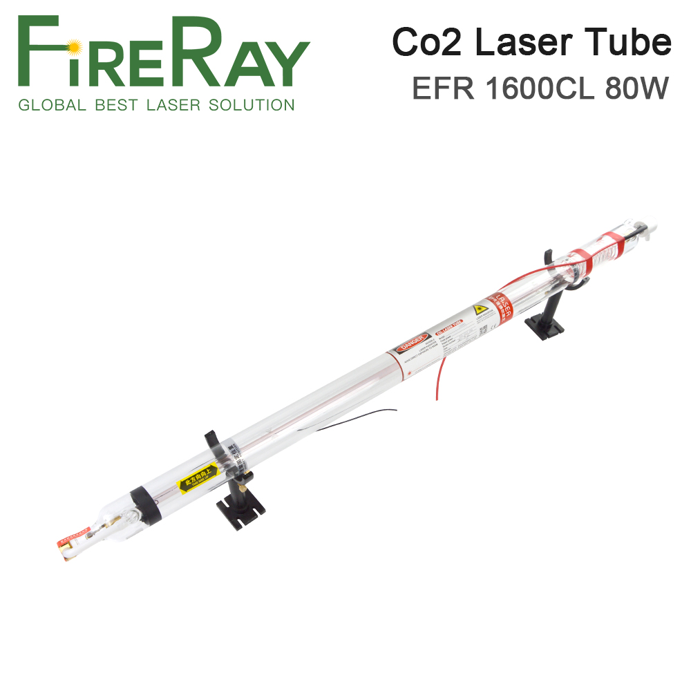Fireray EFR Laser Tube 80W 1600CL Length 1600mm Dia.60mm For CO2 Laser Tube For Laser Engraving And Cutting Machine