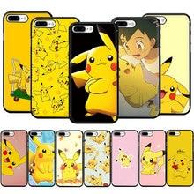 EWAU Pikachu Soft Silicone phone case for iphone