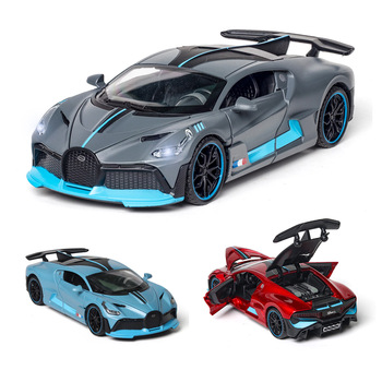 1:32 Diecast Car Model Bugatti DIVO Metal Toy Wheels Sports Pull Back Car Sound Light Collection Kids Gifts Educational Learn rctown divo alloy car model toy 1 32 sound light pull back car for kids adults