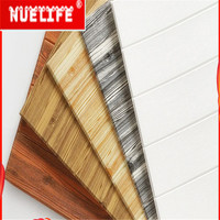 Wood grain wallpaper self adhesive wall stickers soft bag background wall skirt stickers bedroom decoration foam wall stickers