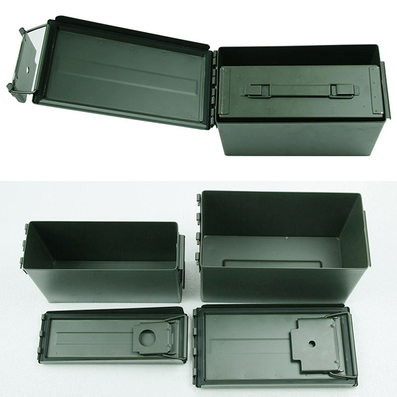 Metal Ammo Case Can Waterproof Military and Army Solid Steel Holder Box for Long-Term Bullet Valuables Storage (5)