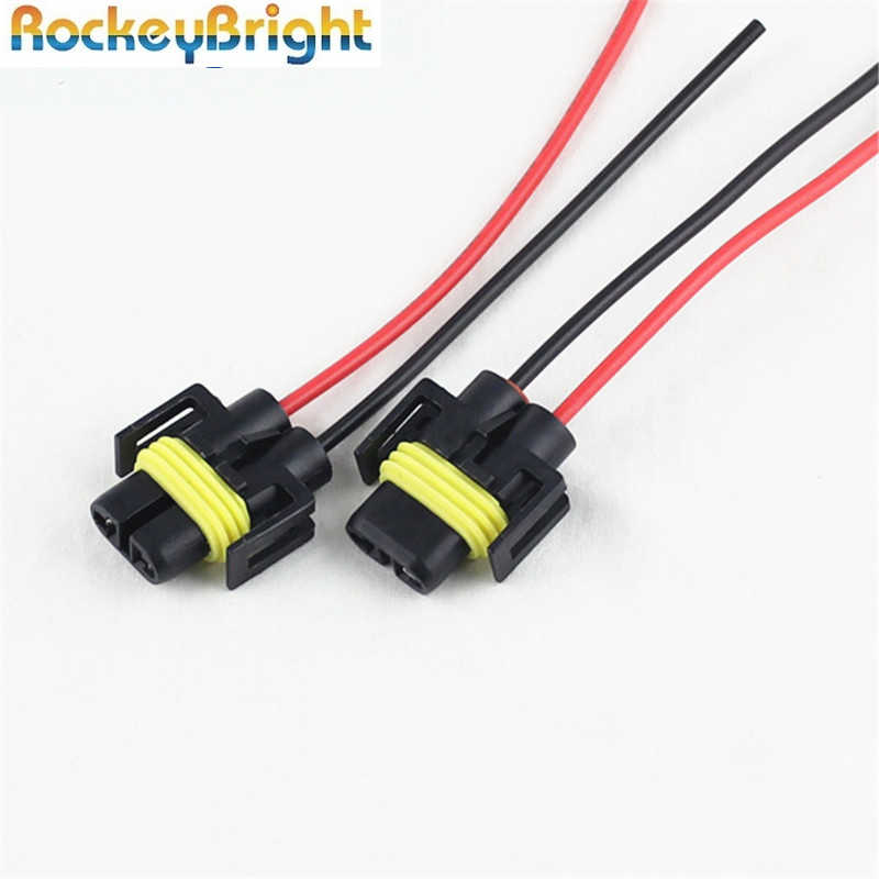 2 Pcs H8 H11 Led Lamp Houder H11 H8 881 Led Fog Lamp Connector Socket Kabelboom Wire Connector Plug houder