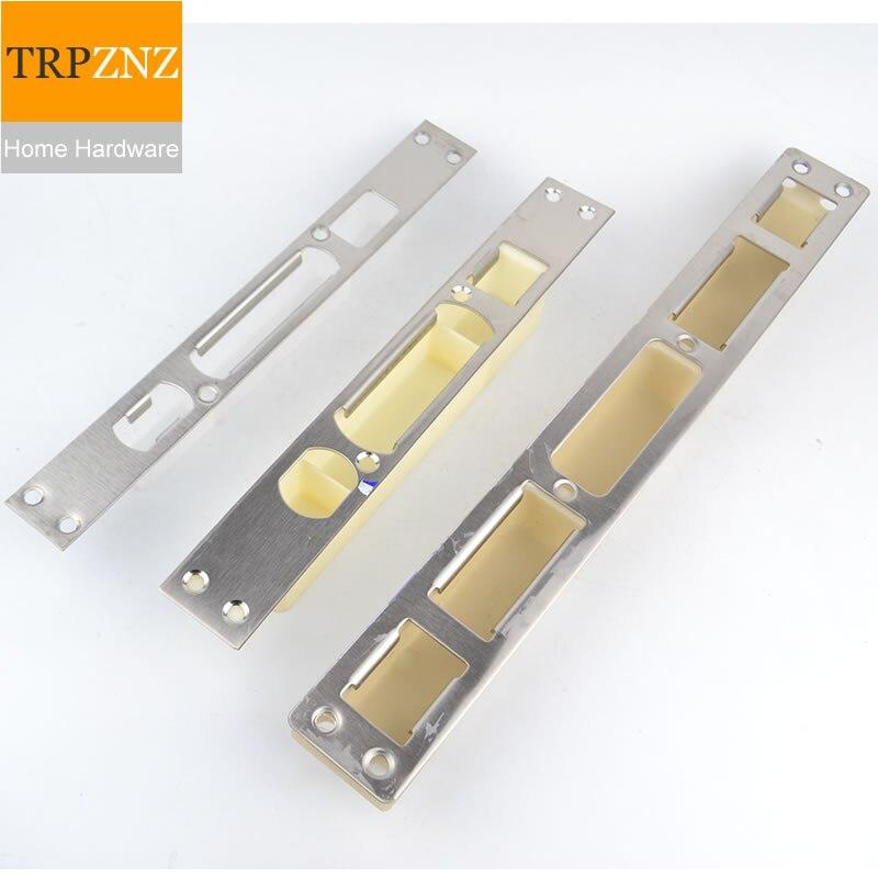 Stainless Steel Door Lock Guide Piece, Door Frame Door Buckle,Anti-theft Door Lock Body Accessories