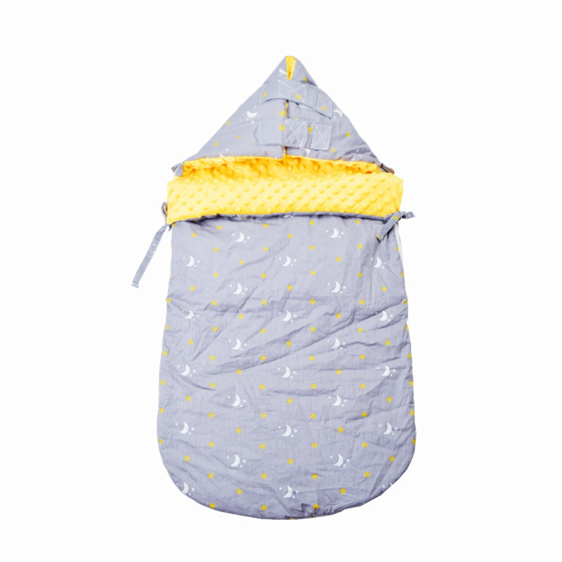 Baby Sleeping Bag  Newborn Blanket With Hat Sleep Sack For Toddler Velvet Cotton Infant Winter Printing  YCZ034