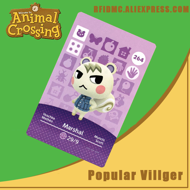 264 Marshal Animal Crossing Card Amiibo For New Horizons
