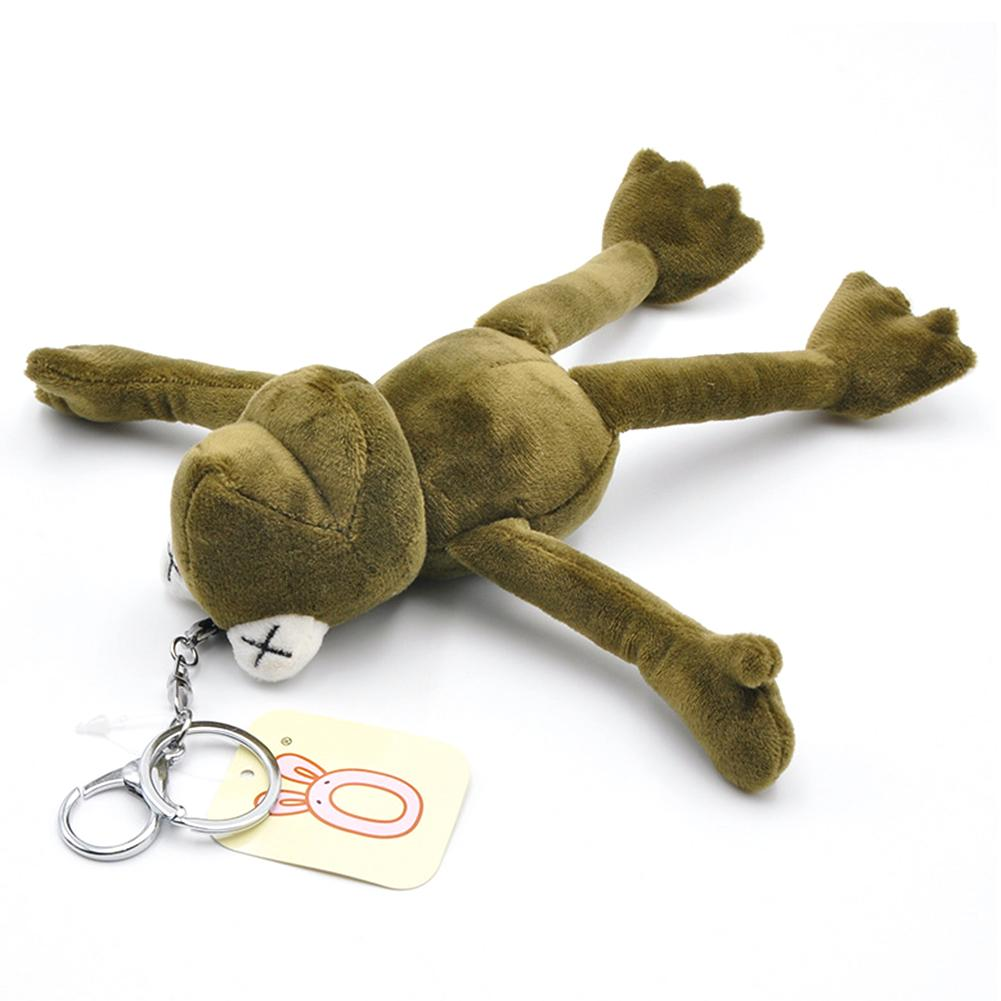 Pluff Funny Cartoon Frog Plush Keychains Rings Key Holder Porte Clef Pendant Soft Stuffed Animal TOY Kids From 0 To 3 Years Old