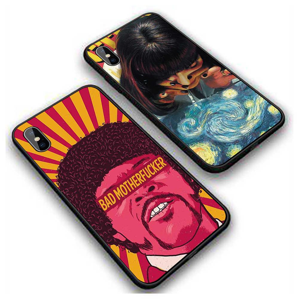 Pulp Fiction Poster Film Luar Biasa Lembut Silicone Case Sampul Belakang TPU untuk iPhone XR X XS Max 5 5S 6 6S 7 7 Plus 11 11 Promax