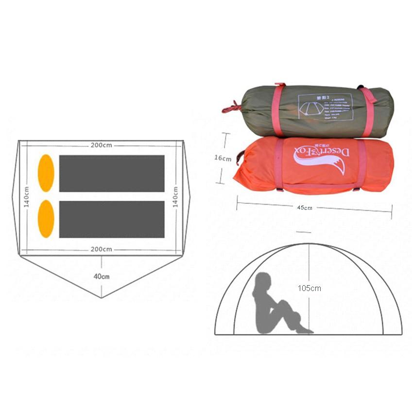 Human aluminum pole light camping tent travel double-layer portable handbag for travel