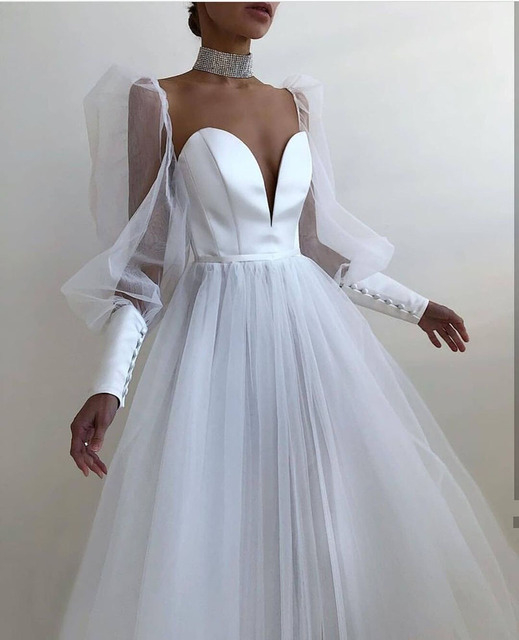 SoDigne A line Evening Dress Short 2021 Simple Evening Gown Long Sleeves Robe De Soiree Formal Party Dresses Custom made 5