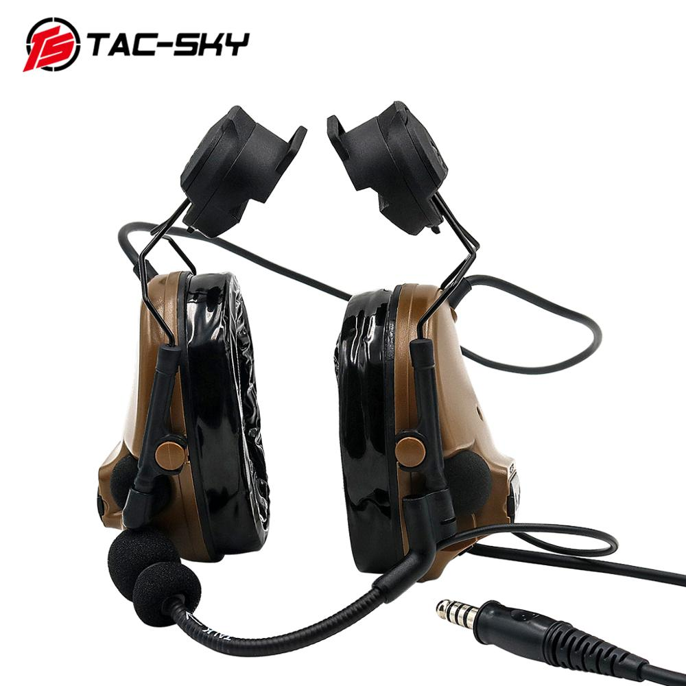 Image 3 - TAC SKY COMTAC III helmet bracket silicone earmuff version outdoor sports noise reduction pickup military tactical headset CB-in Ear Protector from Security & Protection