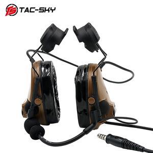 Image 2 - TAC SKY comtac iii capacete suporte de silicone earmuff versão esportes ao ar livre redução ruído captador militar fone ouvido tático cb