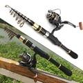 1.8m2.1m2.4m2.7m3.0m3.3m Rod Reel Combos Carbon Telescopic Fishing Rod Spinning Rod and Reels Multifunction set Beginner fishing