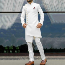 African clothing men's Islamic ethnic style with thin style fashionable and generous ethnic style with cotton summer and autumn