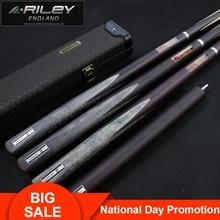 RILEY ROS-3P Snooker Cue 3/4 Split 10mm Deer Master Tip Professional Ashwood Shaft Billar with 12 in Extension