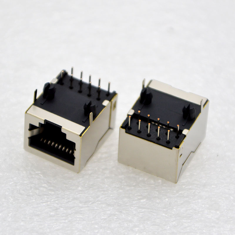 10pcs NEW RJ48 Network Connector <font><b>10P10C</b></font> With Shielding Socket 10 Core Copper Shell female Jack PCB Special Purpose Free Shipping image