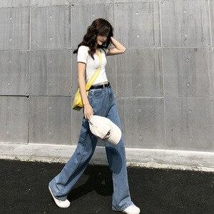 Image 5 - ג ינס נשים Loose גבוה מותן אביב קיץ אופנתי קוריאני סגנון פשוט כל התאמה מקרית Streetwear Ulzzang נשים מכנסיים שיק