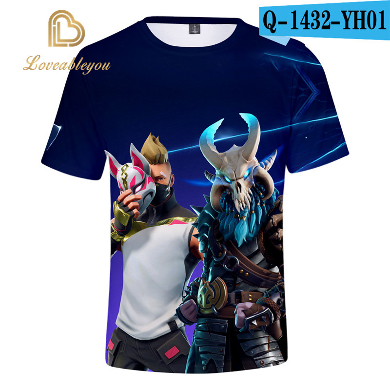 Men T-shirt Children 110-160 3d Printed T Shirt Homme Unisex Casual Short Shirt Cosplay Tshirt Gaming Boy Funny T Shirts