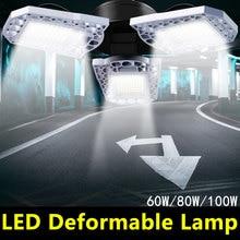 100W Led Garage Light E27 Led Deformable Lamp 85-265V Industrial Lighting LED Smart Sensor Waterproof Light Bulb for Warehouse
