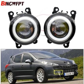 цена на 2pcs/pair (Left+Right) Angel Eye car-styling Fog Lamps LED Lights For Peugeot 207 SW Estate WK_ 2007-2009 2010 2011 2012