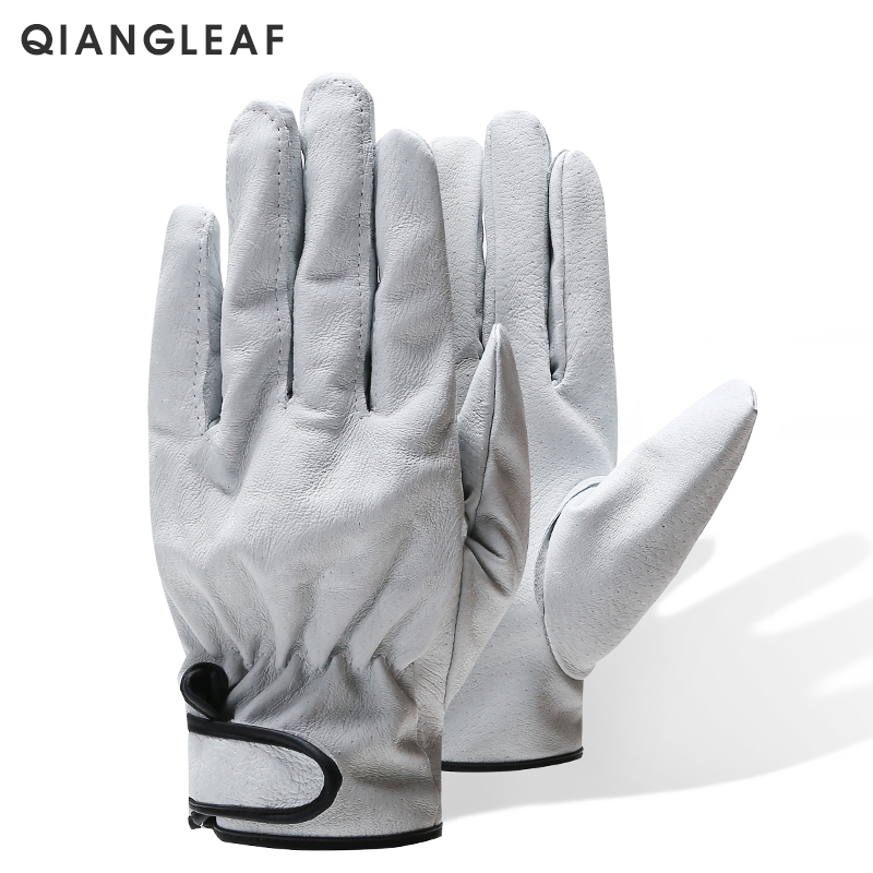 QIANGLEAF Brand Hot Sale D Grade Wear Resistant Work Gloves Ultrathin Leather Safety Glove Wholesale Free Shipping 520