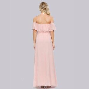 Image 4 - Plus Kích Thước Chém Cổ Hồng Một Đường Xếp Ly Eo Thời Trang Vestidos De Soriee XUCTHHC ĐẦM DỰ TIỆC 2020 Ren Nữ Tay Nữ Full đầm
