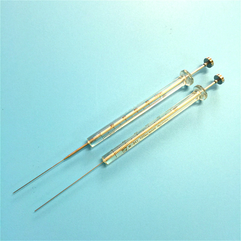 Microsampler Microliter Syringes 100 Ul Micro-injector Micro Sample Syringe 0.1 Ml For GC & HPLC Injection