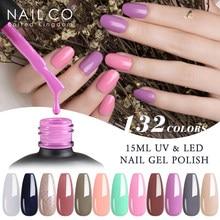 NAILCO 132 renk Vernis yarı kalıcı UV vernik jel oje çivi sanat jel manikür tasarım asit ücretsiz vernik hibrid