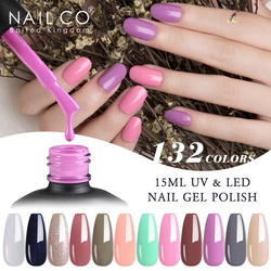 NAILCO 132 Colors Vernis Semi Permanent UV Varnish Gel Nail Polish For Nails Art Gel Manicure Design Acid Free Varnish hybrid