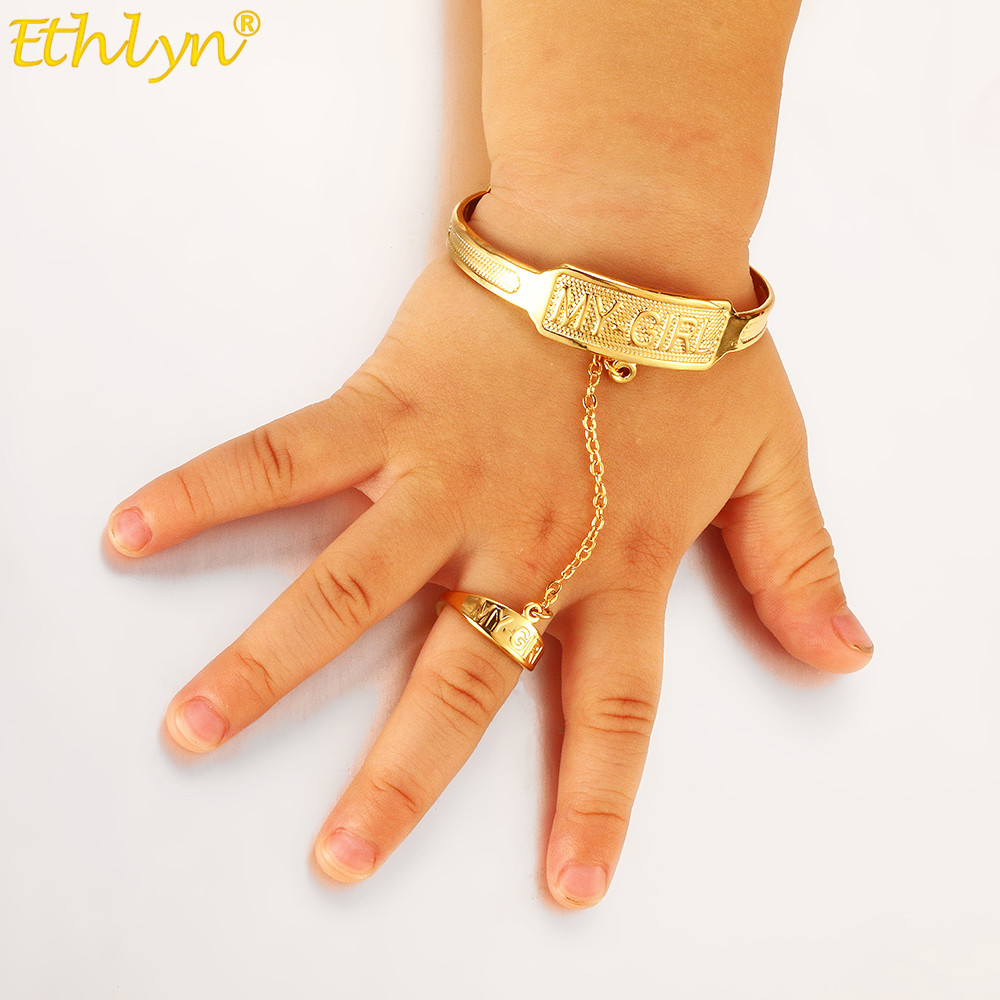 Ethlyn Kids Baby/Girls Jewelry Bangles Gold Color Kids Bangle & Bracelets  Ethiopian Jewelry for Children B66 kids bangles bangles goldjewelry bangle  - AliExpress