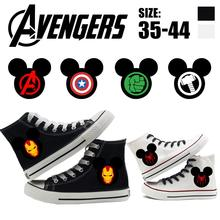 Marvel Avengers Moda de Alta-top As Sapatilhas das Sapatas de Lona Unisex(China)